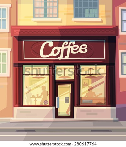 Coffee shop. Vector illustration. - stock vector