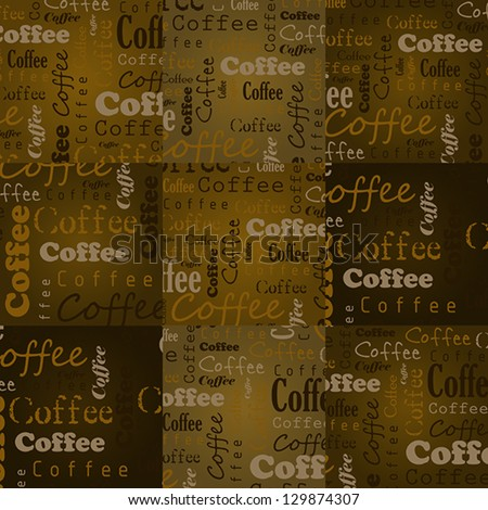 coffee squares with text. coffee concept