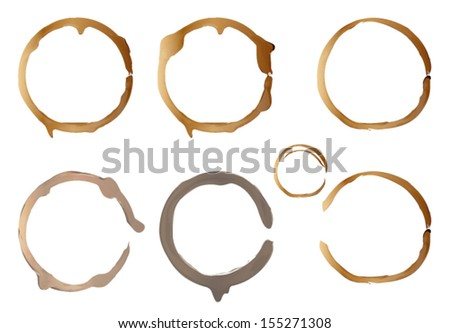 Coffee stain isolated on white. Vector eps10.