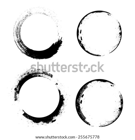 Coffee Stain Ring Vector . Vector Circle Shape . Circle Stamps . Round Brush Stroke . Icon, Logo, Banner Design . - stock vector