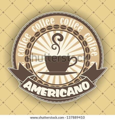 Coffee symbol - stock vector