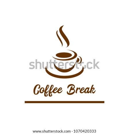 Coffee Symbol Vector Icon Coffee Bread Coffee Stock Vector