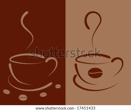 coffee template design - stock vector