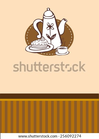 Coffee theme Background.  - stock vector