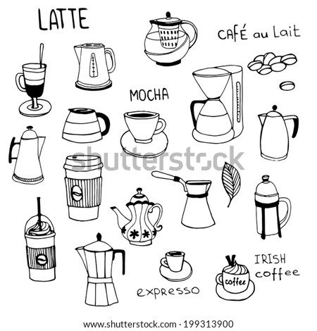 Coffee time, design elements  - stock vector