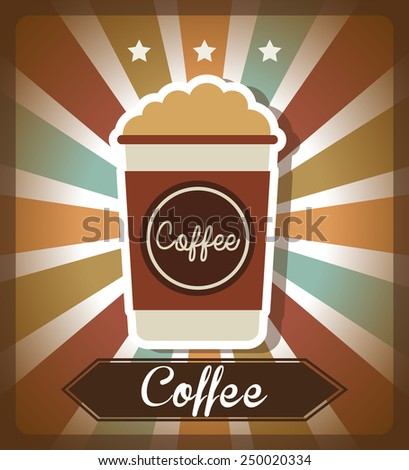 coffee time design, vector illustration eps10 graphic  - stock vector