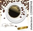 Coffee time - elegant label vector illustration - stock