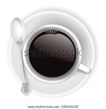 Coffee time, vector illustration - stock vector