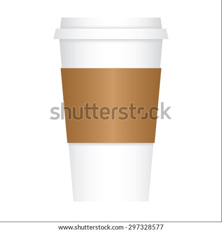 Coffee to go paper cup with cardboard