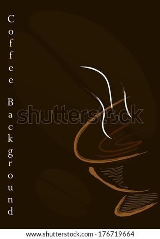 Coffee vector background - stock vector