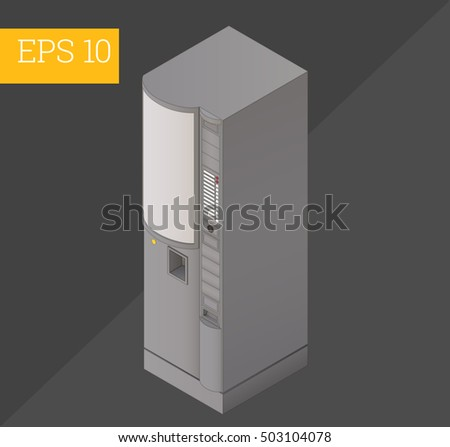 coffee vending machine eps10 vector 3d illustration. automatic coffeemaker