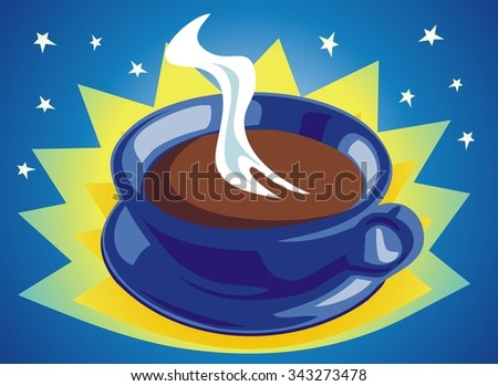 Coffee with that morning magic to wake you up. - stock vector