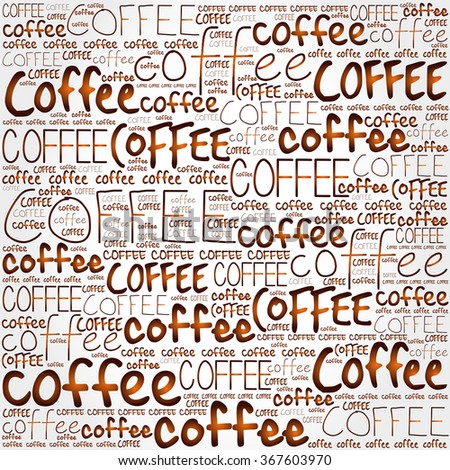 Coffee words cloud poster background - stock vector