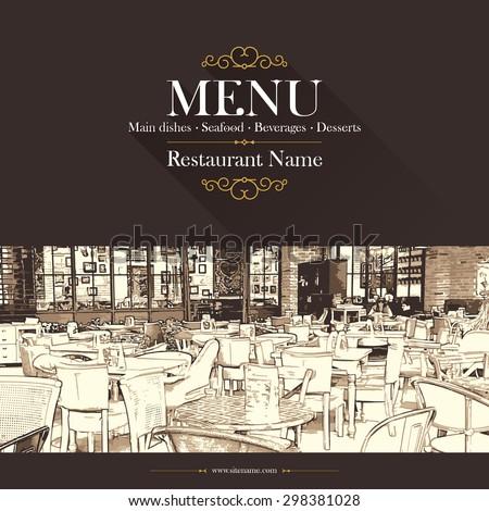 coffeehouse, coffee house, restaurant menu, menu background, brochure, food and drinks, menu design, menu template, background restaurant - stock vector
