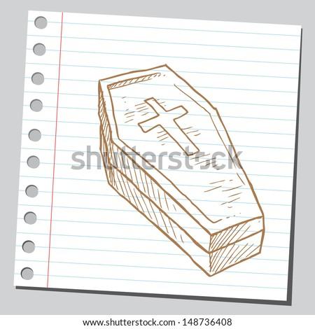 Coffin - stock vector
