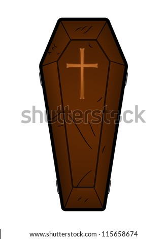 Coffin Vector Illustration - stock vector