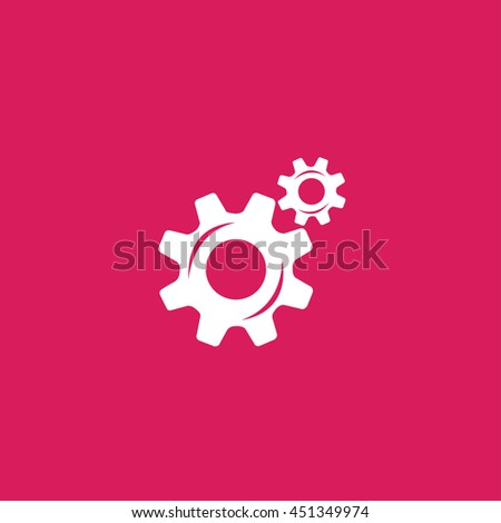 cog icon. cog sign - stock vector