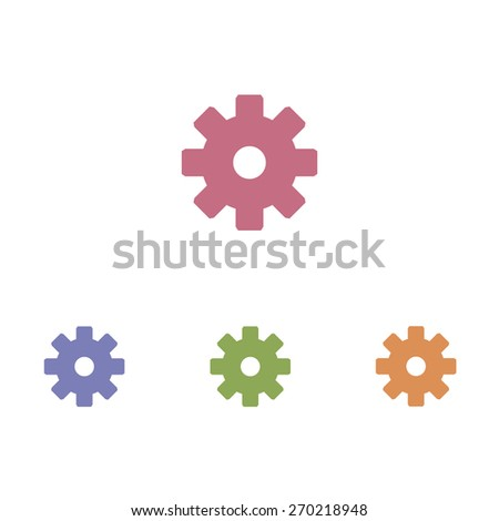 Cog icons - stock vector