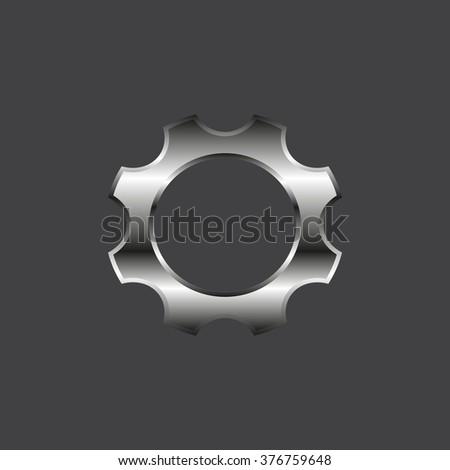 Cog Settings . icon. vector design - stock vector