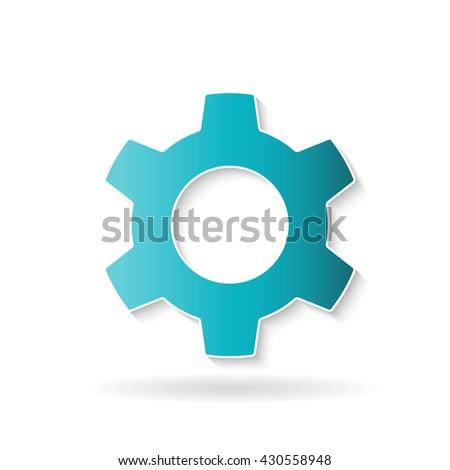 Cog wheel icon. Vector graphic design - stock vector