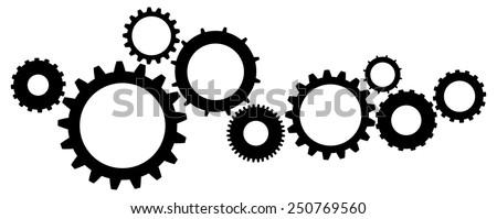Cogs And Gears Icon Vector Illustration Isolated - stock vector