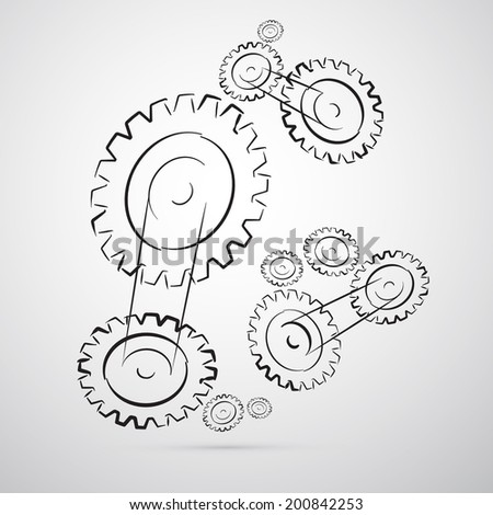 Cogs - Gears Vector Illustration