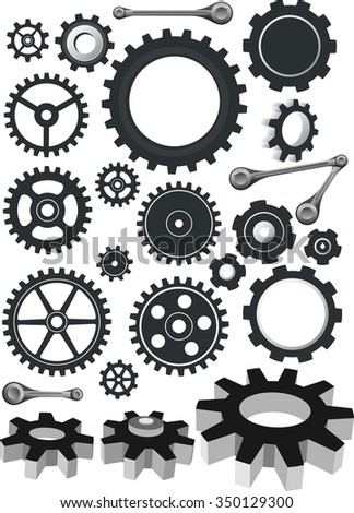 Cogs Set-Variation of gear designs mechanical parts