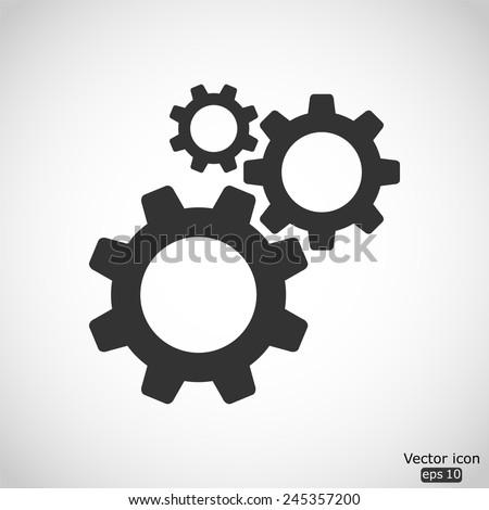 cogwheel gear mechanism vector icon - stock vector