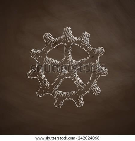 cogwheel icon - stock vector