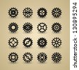 Cogwheel Icon Set | EPS 10 - stock vector