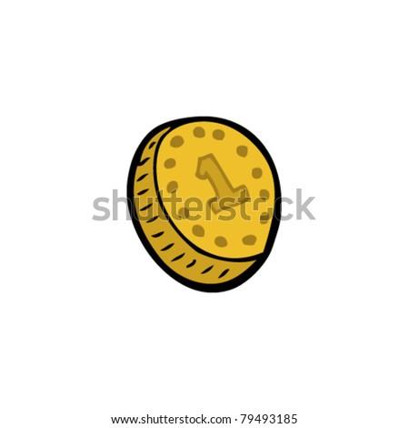 coin cartoon - stock vector