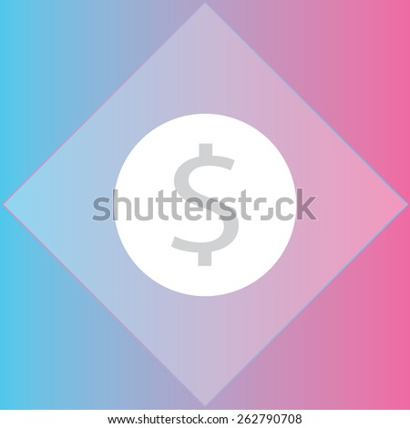 coin icon, vector illustration. Flat design style - stock vector
