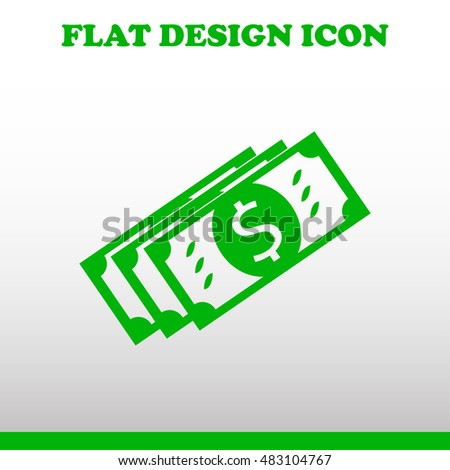 Coin with dollar sign simple icon on grey background. Vector illustration.