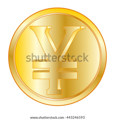 Coin with sign JPY