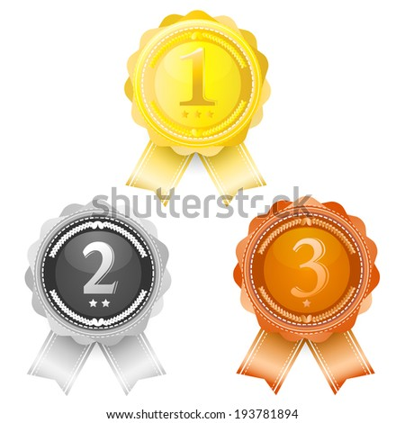 Coins award first, Second, Third.