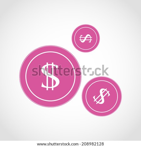 coins icon isolated on a white background. - stock vector