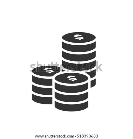 Coins Icon Vector Illustration