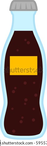 cola beverage bottle - stock vector
