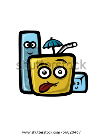 Cold drinks - stock vector