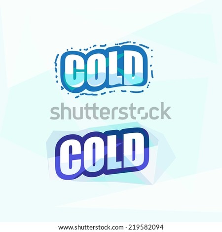 cold letters. ice concept - vector illustration - stock vector
