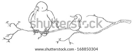 Cold snowy weather theme cartoon, vector, isolated  - stock vector
