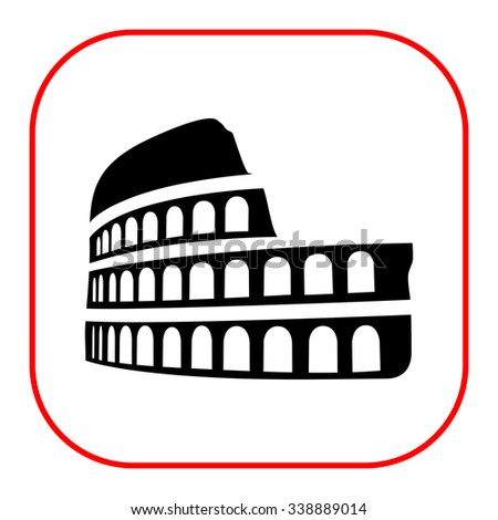 Coliseum icon - stock vector