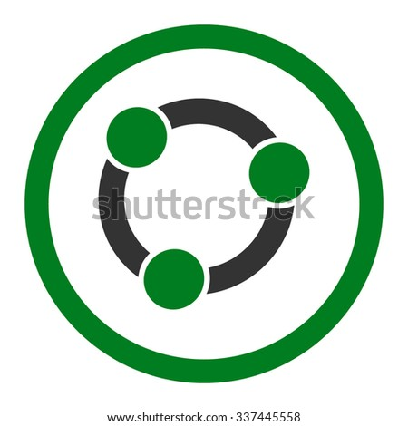 Collaboration vector icon. Style is bicolor flat rounded symbol, green and gray colors, rounded angles, white background. - stock vector