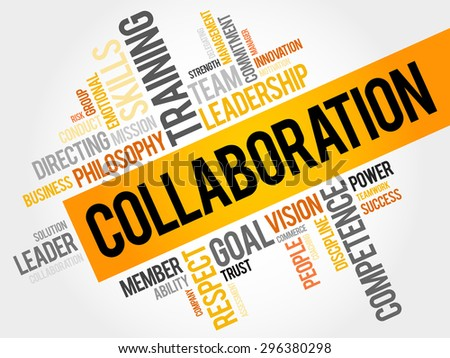 COLLABORATION word cloud, business concept - stock vector