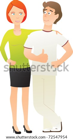 Colleagues - stock vector