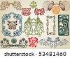 collect art nouveau - stock vector