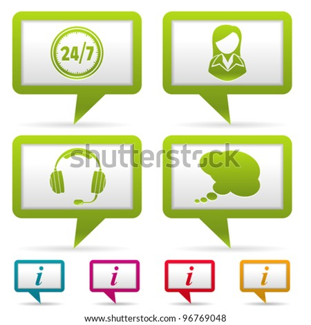 Collect Business Web Icons with Woman and Consultant icon, vector illustration - stock vector