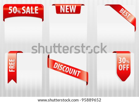 Collect Sale, Discount, Best Tags Labels, element for design, vector illustration - stock vector