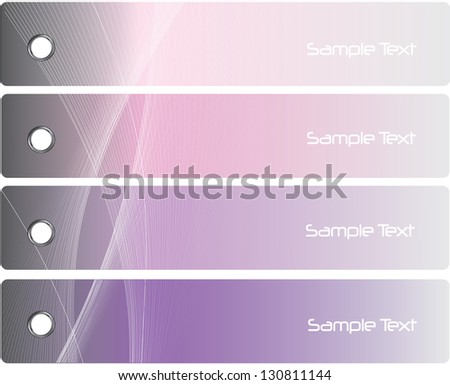 Collection banner design - stock vector