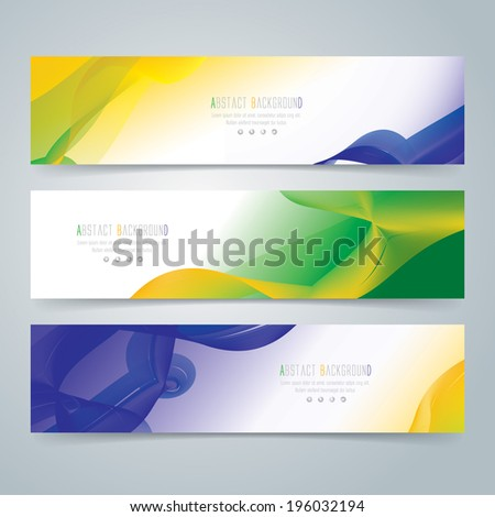 Collection banner design background in Brazil flag color concept. Can be used in website background or advertising.